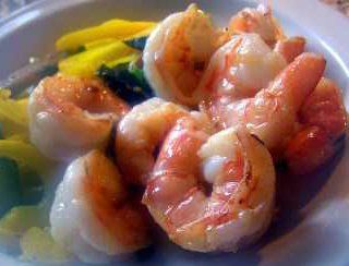 pieces of shrimp on a plate