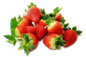 small pile of strawberries