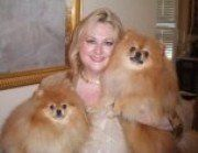 two throwback Pomeranians
