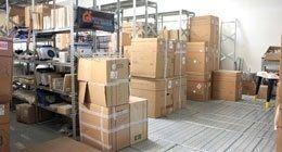 magazzino con ricambi per elettrodomestici