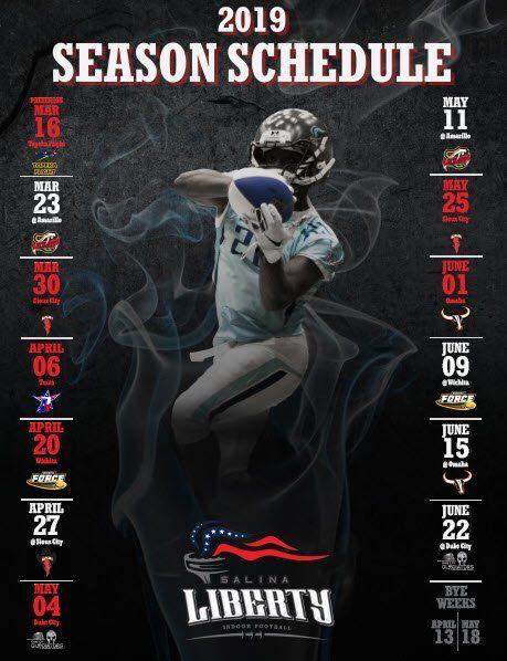 Arena Football Schedule 2019 Salina Liberty Indoor Football Schedule