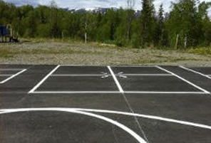 Game court as an example of our services in Wasilla, AK