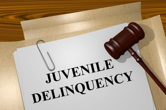 Juvenile delinquency title on legal documents
