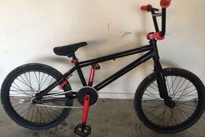 black bmx bike powder coated
