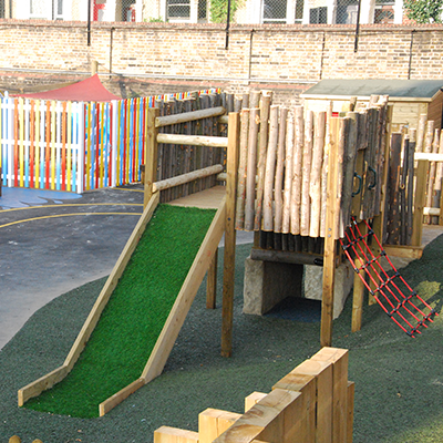View of the outdoor play area