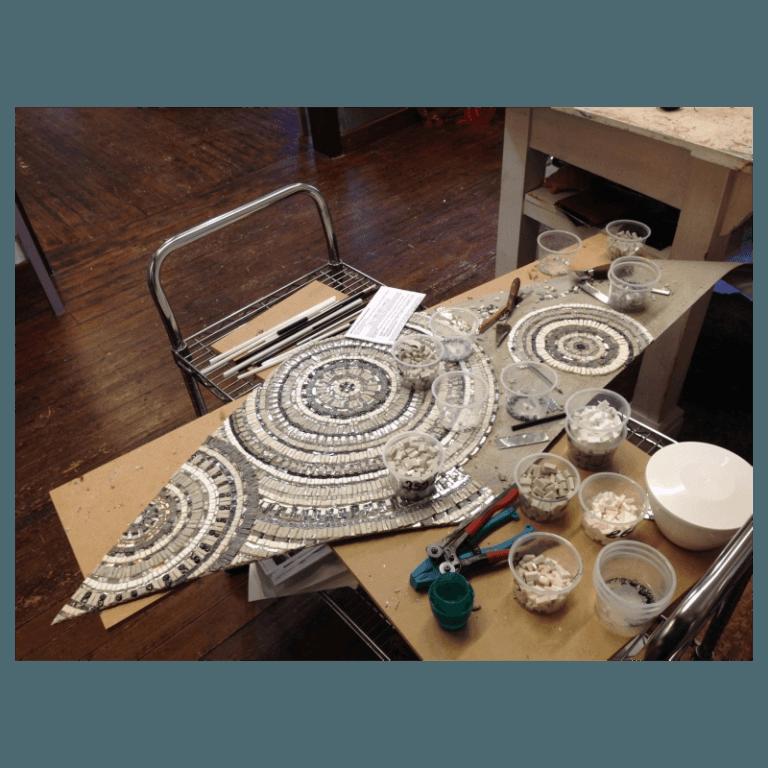 aquilone in mosaico