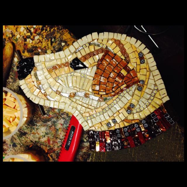 tomba cane mosaico