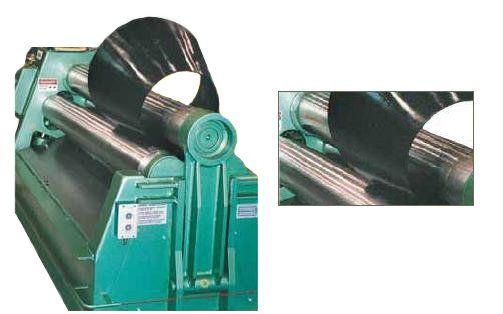 australian general engineering metal plate rolling close view