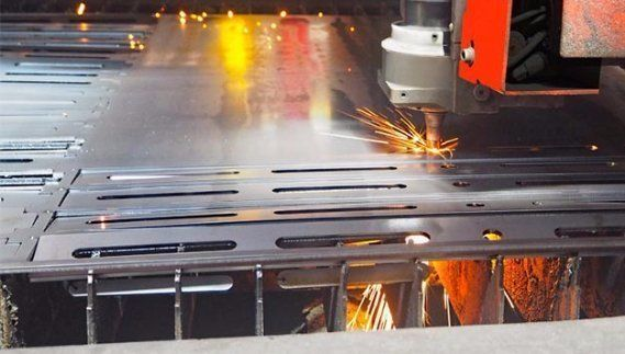 australian general engineering spark while laser cutting