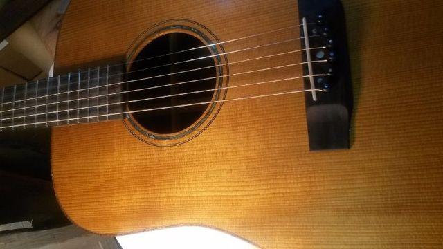 Torrefied Adirondack guitar
