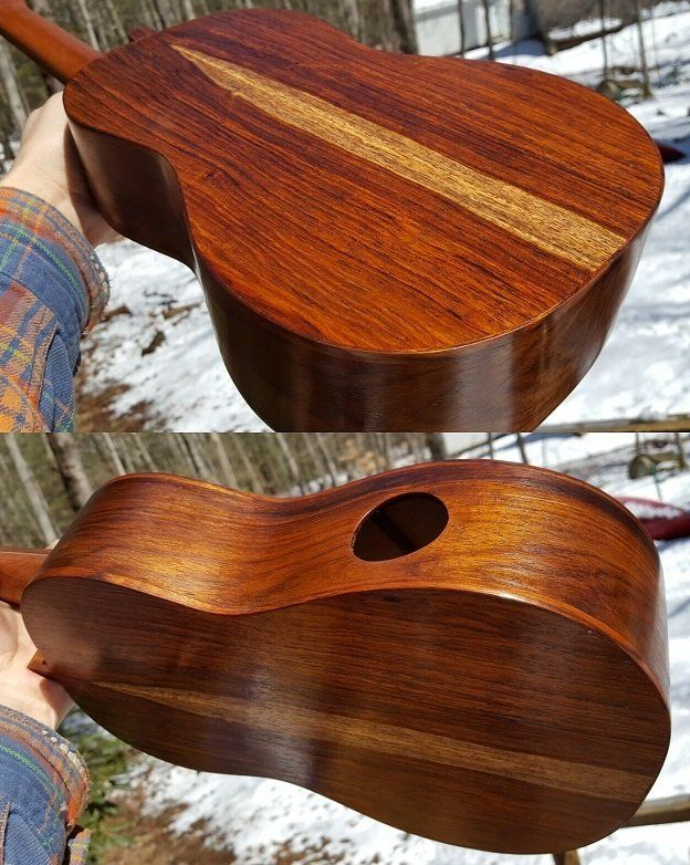 Ukulele with shellac finish