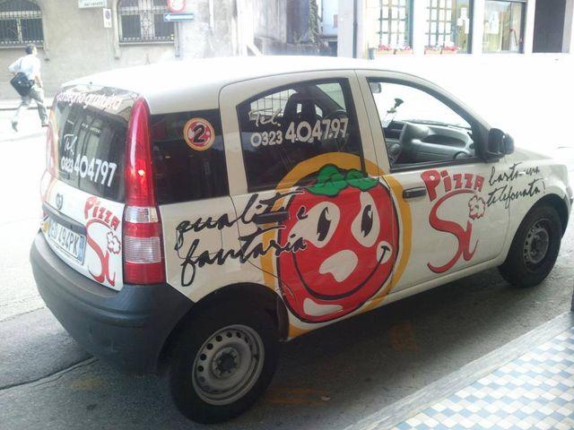 auto per consegna pizze