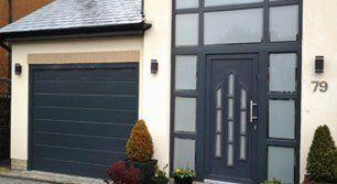 garage door and house entrance door