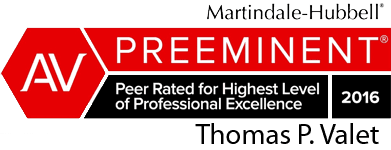Martindale-Hubbell Peer Rated for Highest Level of Professional Excellence