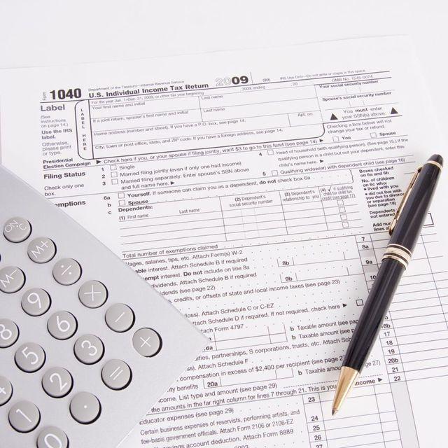 Income tax 1040 worksheet