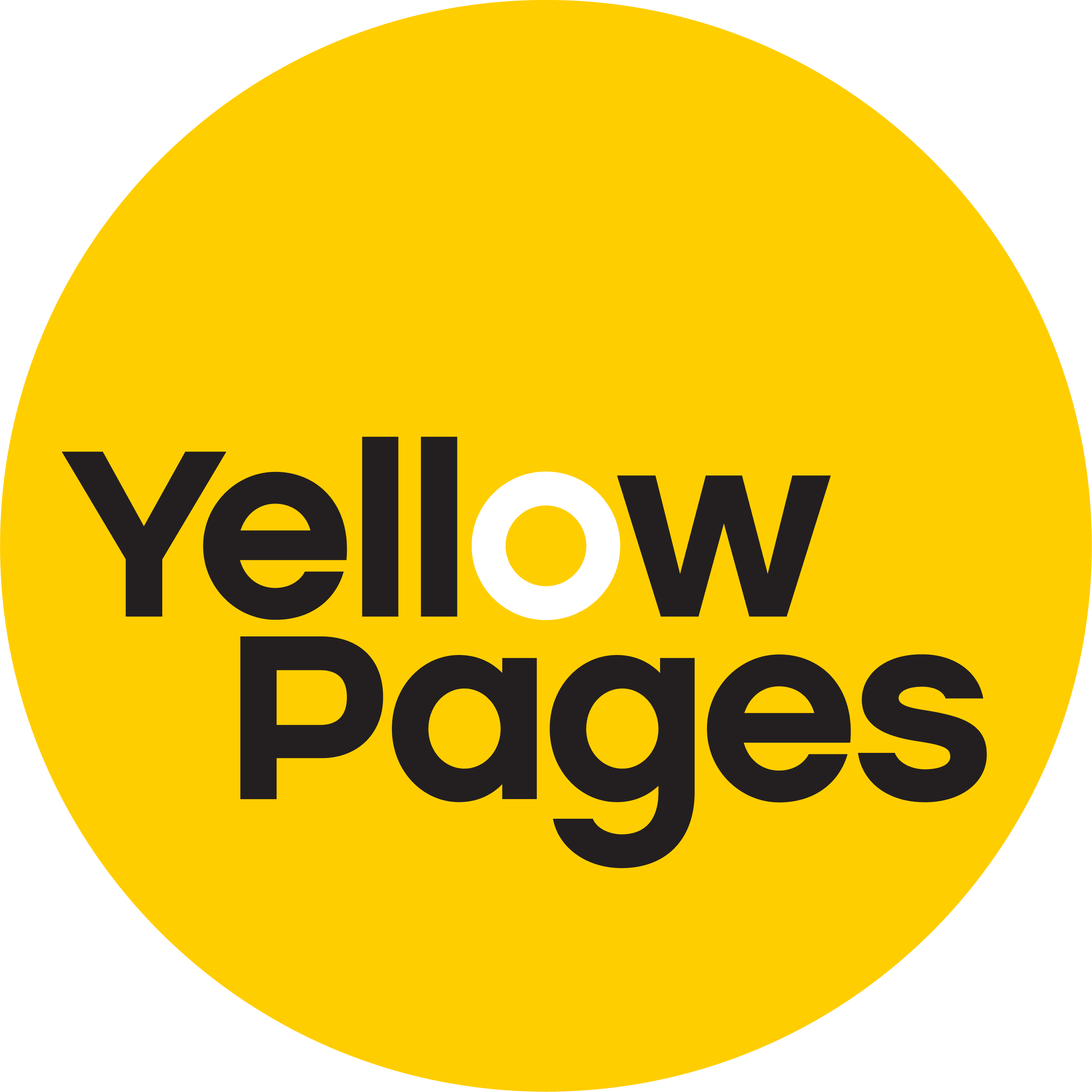 Yellow pages listing