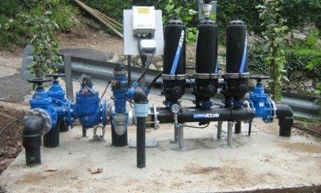 Stazioni di filtraggio di un'impianto di irrigazione