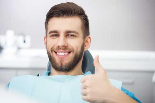 paziente prima di operazione odontoiatrica