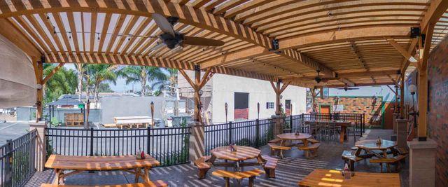 patio seating restaurant vista