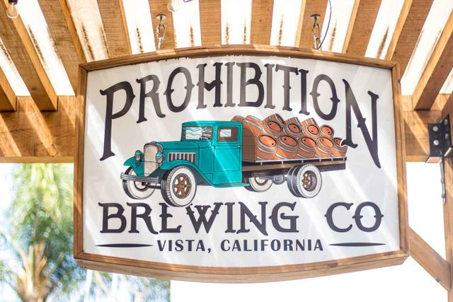prohibition wooden sign