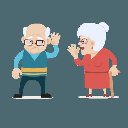Icona con due persone anziane