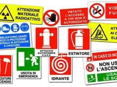 cartelli di sicurezza