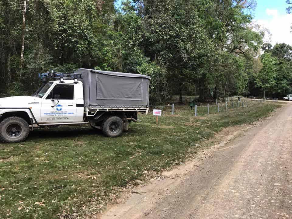 fencing installer truck