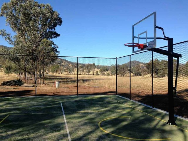 basketball fencing