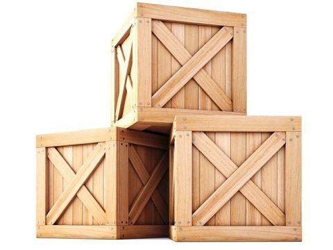 delle casse di legno