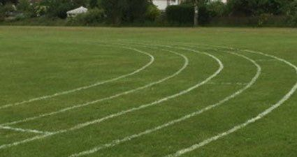 Sports field mowing and line marking