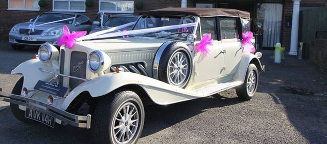 decorated vintage car