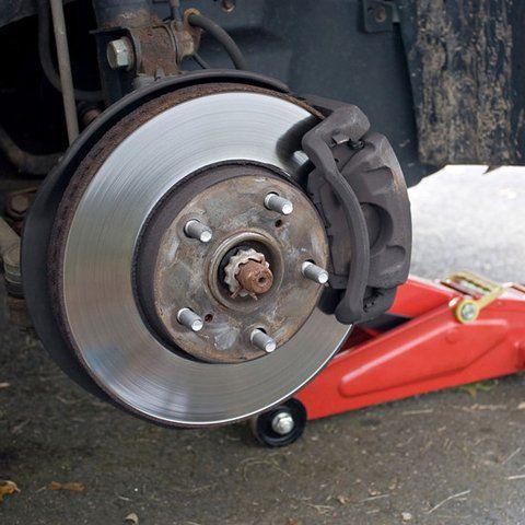 brake pad damage being fixed