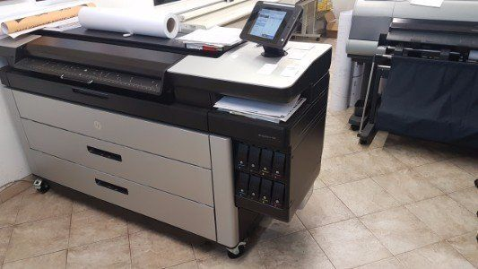 Stampante HP PageWide XL 5000 Printer è l'ideale per la realizzazione di stampe pubblicitarie, cartelloni, banner e striscioni