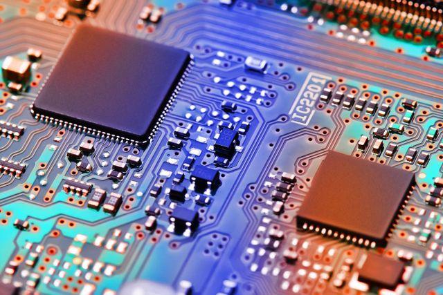 Immagine di un circuito stampato