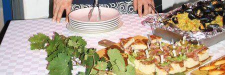Menu per banchetto a Villorbia