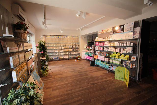 Vista dell'interno della farmacia