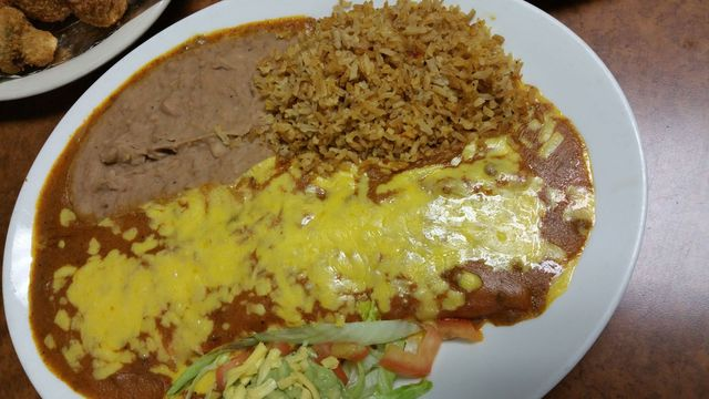 Best Enchiladas, Bud Jones Restaurant
