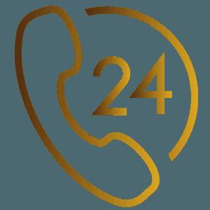 Icona telefono 24 ore