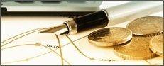 penna stilografica con monete