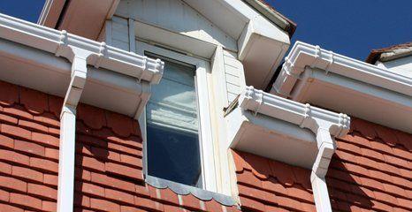 guttering, fascia or chimney