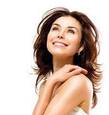 woman after a skin resurfacing treatment