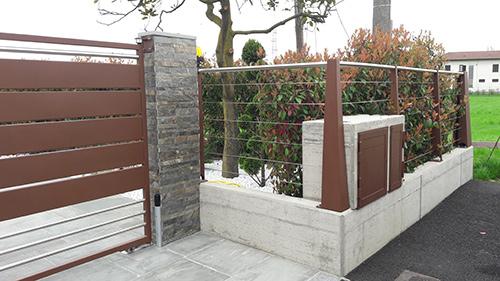 cancello e recinzione in ferro