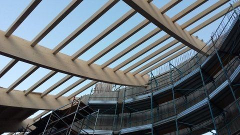 struttura ingegneristica per sostegno tetto