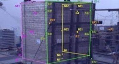 immagine edificio con relativi calcoli strutturali