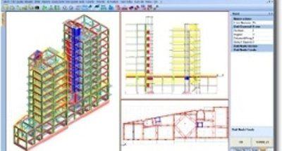Progetto tridimensionale e bidimensionale di un edificio