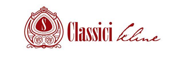 Logo rosso e scritta classici kline