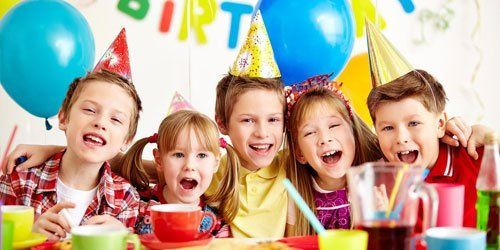 Kids in birthday party