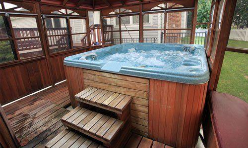 blue hot tub