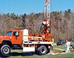 Well drilling equipment at Johnson Water Well Drilling