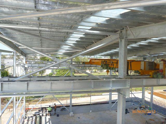 portal shed with overhead crane brisbane